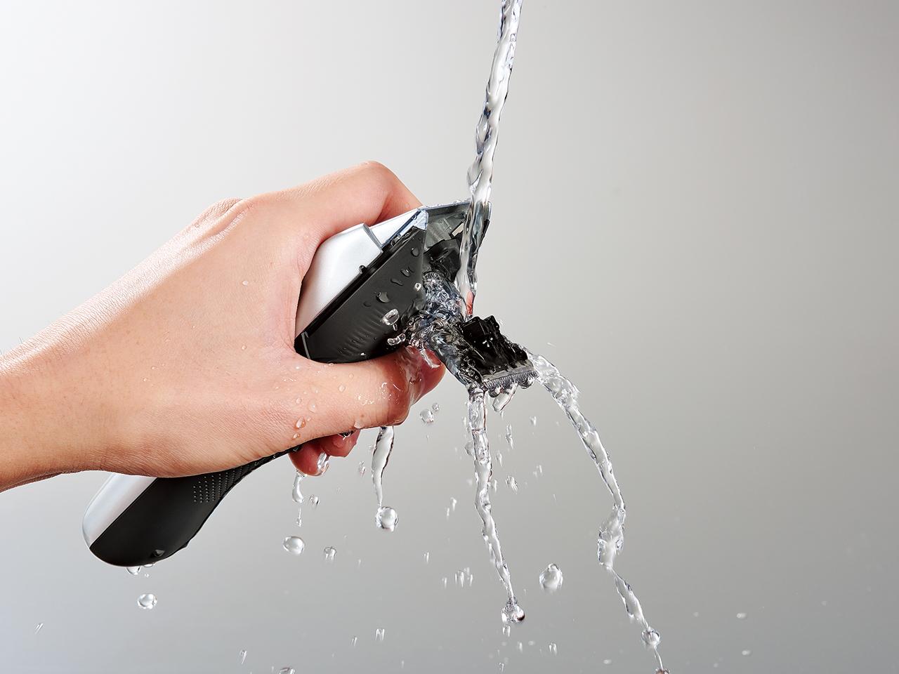 テスコムのバリカンヘアーカッターTC470は水洗いOK
