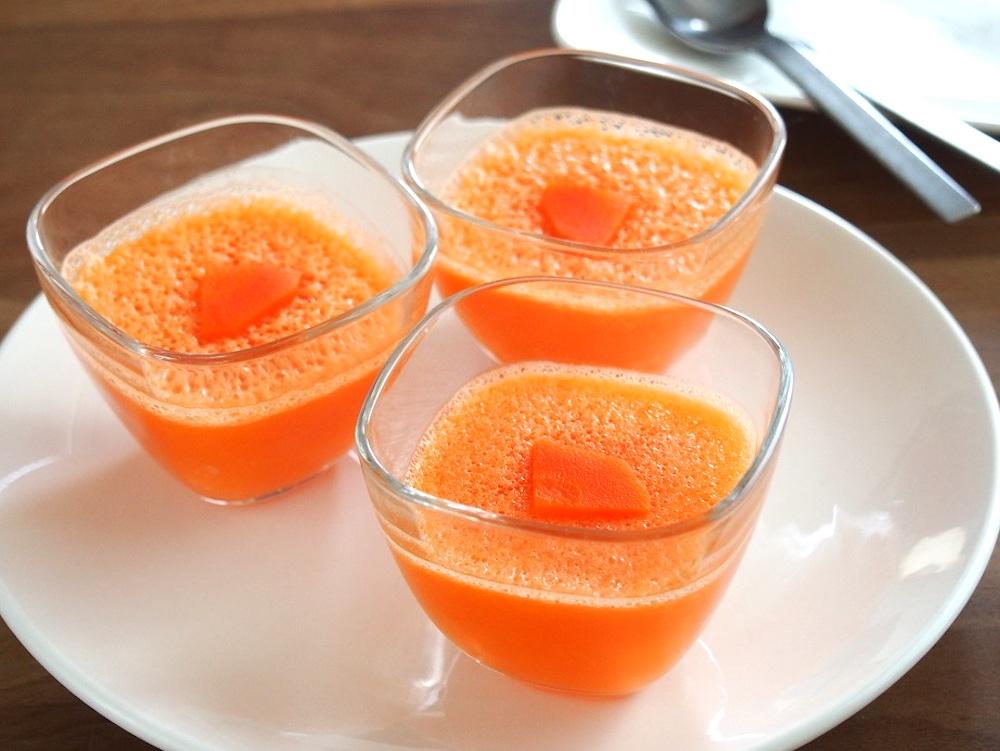 【料理研究家考案】ミキサーを使った簡単デザートレシピ②にんじんオレンジゼリー