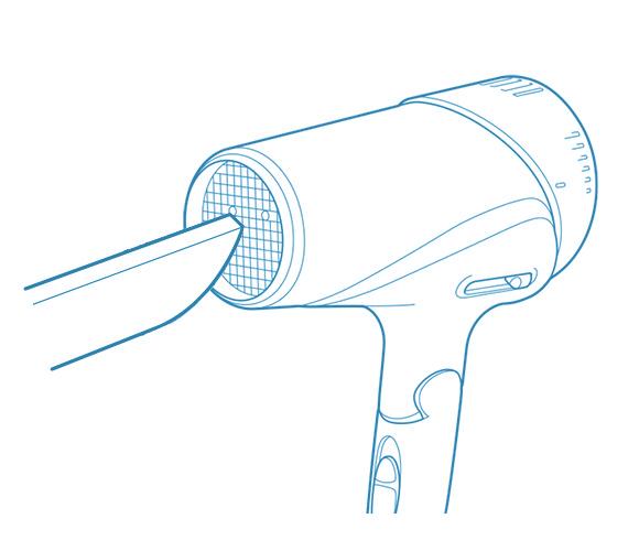 吹き出し口を掃除する方法