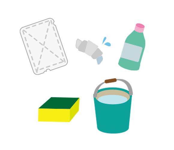 コンベクションオーブンの掃除に必要なアイテム