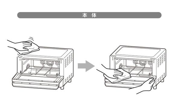 コンベクションオーブンの基本的な掃除方法