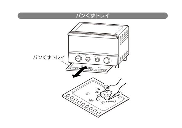 コンベクションオーブンのパンくずトレイを掃除する方法