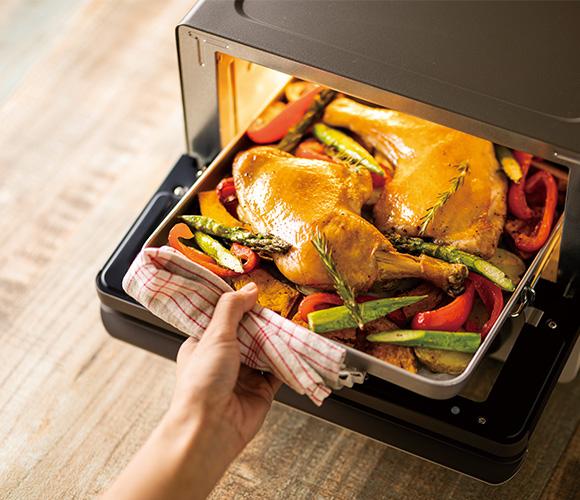 オーブンの庫内の容量を確認する